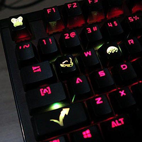 Winston Schlüssel (Alle Decor Vorgehen Thema Tastenkappen handgraviert Kunstharz Thermo Farbensublimierung Schlüssel Kappen für Mechanische Tastaturen (Cherry Switches) mit Geschenk Fall - Schwarz Winston)