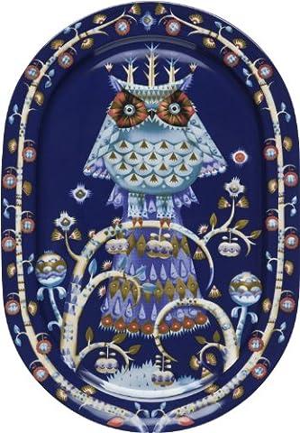 Taika Blue Oval Serving Plate