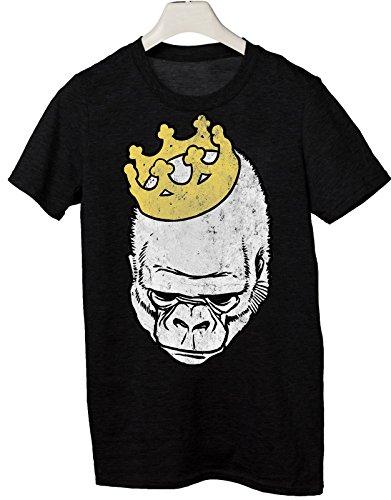 Tshirt re gorilla - Tutte le taglie by tshirteria Nero