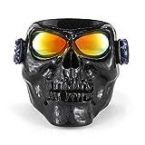 KKmoon Motorrad Brille Helm Maske Outdoor Reiten Motocross Schädel Winddicht Weingläser Sanddicht Knight Ausrüstung