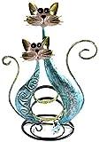 Bejeweled pantalla® Doble gato azul Fancy pendientes soporte organizador de ~ ~ soporte para joyas pantalla w/caja de regalo
