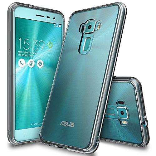 Zenfone 3 Hülle, Ringke FUSION kristallklarer PC TPU Dämpfer (Fall geschützt/ Schock Absorbtions-Technologie) für das ASUS Zenfone 3 - Rauchschwarz