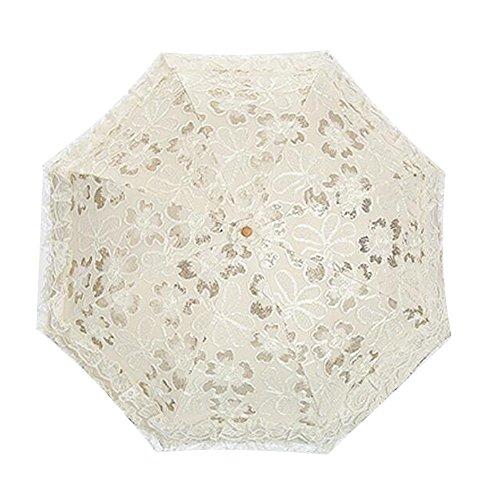 bpblgf Paraguas De La Boda del Patio ProteccióN Ultravioleta del DiseñO con El Paraguas del CordóN del CordóN del CordóN, 04