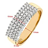 Naava 9 ct Yellow Gold Women's Diamond Ring Bild 3