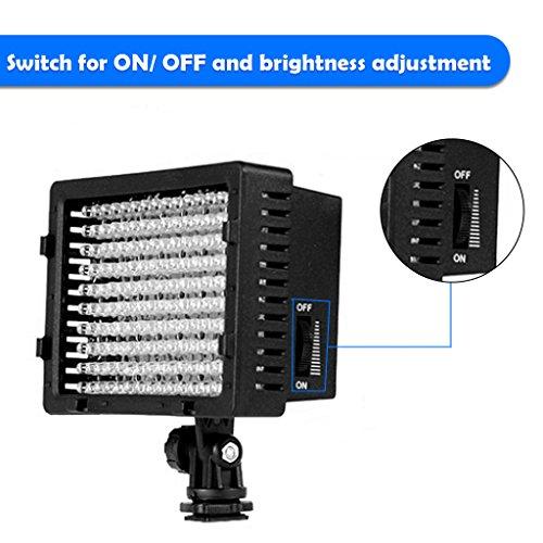 Lightdow Caméra vidéo LED lampe de lumière pour Canon Nikon Caméra DV Caméscope numérique Appareil photo reflex numérique