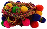 #4: Goelx Pom Pom Fashion Laces Trims For Borders And Craft. Bundle Pack- 5 Meters