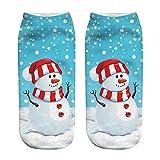 HEHEM Christmas Socks Christmas Breathable Warm Socks Unisex Christmas Funny 3D Fashion Printed