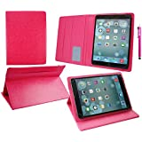 Emartbuy® Sunstech Tab917QC 9 Inch Tablet Universal ( 9 - 10 Inch ) Hot Rosa Premium PU Leather Multi Angle Executive Folio Wallet Case Cover Rosa Interior With Card Slots + Rosa Lápiz Óptico