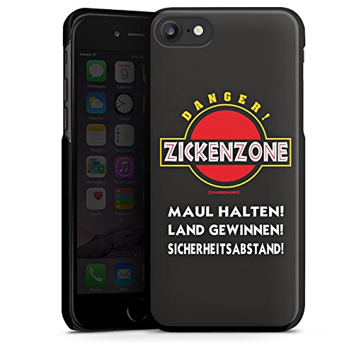 Apple iPhone X Silikon Hülle Case Schutzhülle Zickenzone Zicke Humor Hard Case schwarz