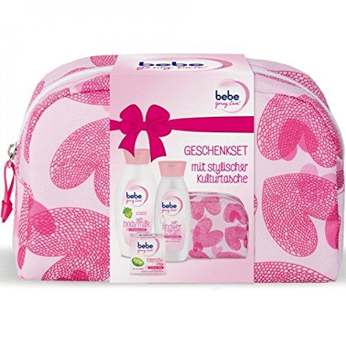 bebe-young-care-geschenkset-stylische-kulturtasche-soft-body-milk-400ml-soft-shower-cream-250ml-inte