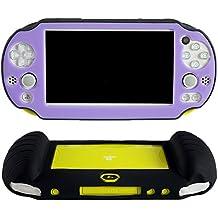 Pandaren Cubierta de silicona cover mano agarre funda protectora (púrpura) para PS Vita slim PSV 2000