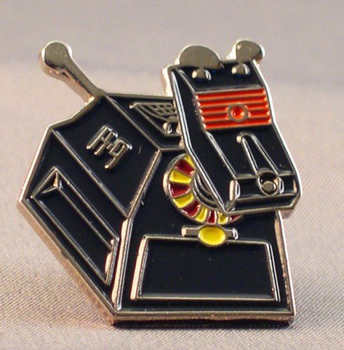 Metall Emaille Pin Badge Doctor Dr. Who polizeidiensthund (K9) Roboter Hund Dr Who Anstecknadel