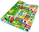 Playmat /food server/ yoga mat 100% waterproof, Anti skid, double sided baby Crawling mat - 6 x 4 feet