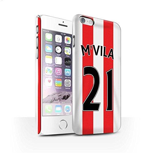 Offiziell Sunderland AFC Hülle / Glanz Snap-On Case für Apple iPhone 6S / Kirchhoff Muster / SAFC Trikot Home 15/16 Kollektion M'Vila