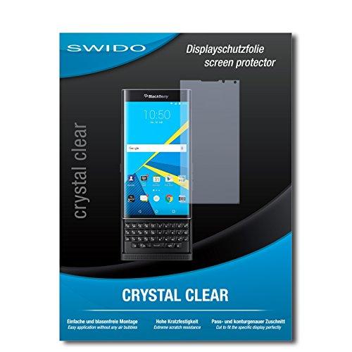 SWIDO Bildschirmschutz für BlackBerry Priv [4 Stück] Kristall-Klar, Hoher Härtegrad, Schutz vor Öl, Staub & Kratzer/Schutzfolie, Bildschirmschutzfolie, Panzerglas Folie