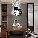 Wall Clock WERLM Persönlichkeit Design Home Decor Uhr Quarz Wanduhr Kunst Wohnzimmer Schlafzimmer Wecker für zu Hause Küche Büro Schule Ideal für jeden Raum in der Schule, 50 * 80 cm