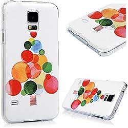 Samsung Galaxy S5 i9600 Coque de Protection Transparente - YOKIRIN Phone Case PC Ultra Mince Cover Illustration Coloré - Bulle Coloré