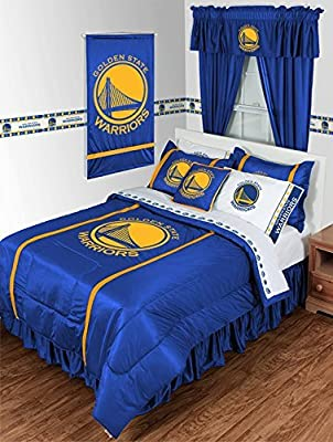 Golden State Warriors 5 PIECE TWIN BEDDING SET, BED IN A BAG (COMFORTER, FLAT SHEET, FITTED SHEET, 1 - PILLOW CASE, 1 - PILLOW SHAM by Dream Time Kids Bedding - low-cost UK light store.
