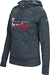 NBA Atlanta Hawks Womens Color Slant Climawarm Team Issue Pullover Hood, Small, Onix Melange