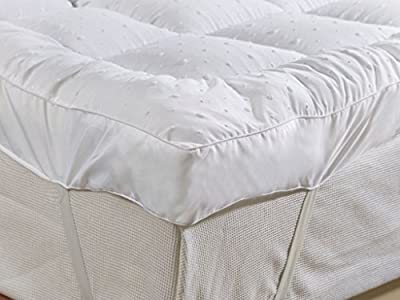 rejuvopedic New Small Double (4ft) Bed Size Microfibre Mattress Topper,** New 3D Massage Bubbbles Fabric**, Box Stitched, 230 TC Cover & Elasticated Corner Straps