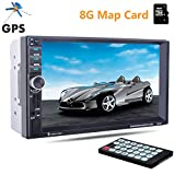 PolarLander 7 Zoll 2 Lärm-LCD-Touch-Screen-Auto-Radio-Player-Unterstützungs-GPS Bluetooth Hands Free 1080P Film Rear View Camera Car Audio Stereo MP5 mit Karte 8G Karte