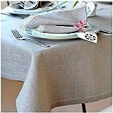 Linen & Cotton Nappe de Luxe en Lin Ajouree Florence, 100% Lin - 143 x 350cm (Naturel/Beige)