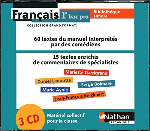 Coffret Bibliothèque sonore Français 1re Bac Pro 3 ans