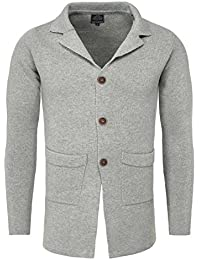 Carisma Men Cardigan NAPIER with elegantem Collar and Button Front