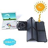 SUNKINGDOM 39W Solar Ladegerät (18 V DC bis 5V USB Dual Ausgang Ladegerät) für Laptop, Akku, Netz Bank, iPad, iPhone und mehr - 3