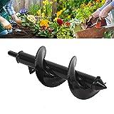 Vuffuw Broca en Espiral para jardín, Broca de Taladro de Tierra para Plantar focos de Semillas y Plantas de Cama