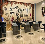 Rureng Salon Hair Salon Beauty Salon Hairdressing Shop Nostalgic Retro Makeup Background Wall Custom Large Fresco Wallpaper-400X280Cm