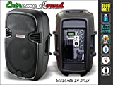 2 CASSE AUDIO 1500 WATT BLUETOOTH RADIO USB x DJ KARAOKE ATTIVA +PASSIVA Kit-D10