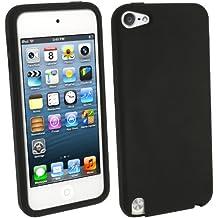igadgitz Negro Case Silicona Funda Cover Carcasa para Apple iPod Touch 5a Generación 5G 32GB 64GB + Protector de pantalla