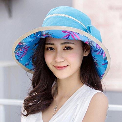 ZHANGYONG*Frangisole esterno cappelli donna summer visiera marea estate spiaggia cap tour UV , la signora (Signore Blu Visor)