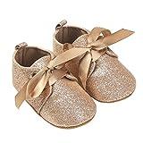 Nicholco , Chaussures premiers pas pour bébé (fille) doré 6-12 mois