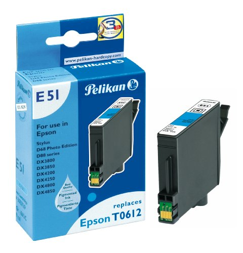 Pelikan Druckerpatrone E51 ersetzt Epson T06124010, Cyan (pigment) - Pigment-inkjet-cyan