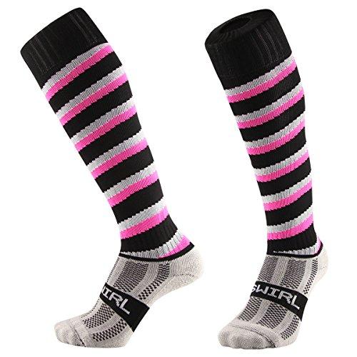 92fbb4e1556 Samson Hosiery ® Swirl Spiral Candy Cane Print Funky Novelty Fashion Gift  Socks Football Rugby Sports And Casual Knee High Socks For Men Women Kids  Unisex ...
