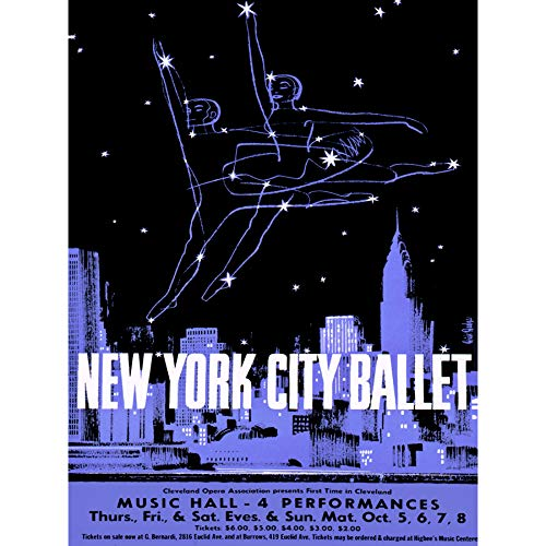 New York City Fine Art (Wee Blue Coo LTD Advertising Exhibition New York Ballet Dance City Skyline Art Canvas Print)