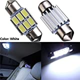 GCT WHITE 6 SMD LED 31mm 12V Non Polar Canbus Error Free | No Error Car Panel Interior Roof Light Bulb | Dome Reading Lamp | Festoon Light Bulb LED for Car