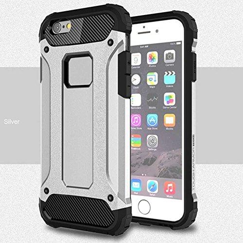"""iPhone 6S Plus Coque, AOFad iPhone 6 Plus Case Mince Protection des lourds 2-à-1 Argent TPU Avec 11 Colors Urban-Knight Accessoires Série Pour Femme Homme 5.5"""" I636 AOFad B317"""