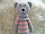 Kuscheltier Baby Teddybär personalisierte Geschenke Baby Taufgeschenke für Mädchen Geschenk zur Geburt handmade von mir gehäkelt/ds-