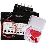 chiaogoo Twist rot Spitze austauschbar Stricknadeln 12,7cm Spitze Set Mini komplett, Acryl, mehrfarbig