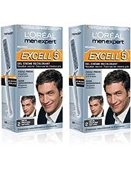 L'Oréal Men Expert Excell 5 Coloration Homme Sans Ammoniaque Brun Profond Naturel 2 - Lot de 2