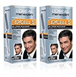 L'Oréal Men Expert Excell 5 Coloration Homme Sans Ammoniaque Brun Profond Naturel 2 - Lot de 2