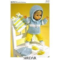 Sirdar Dolls Clothes Knitting Pattern 3122: Doll