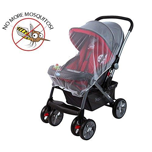 Zanzariera universale per passeggino, mincome mosquito nets | zanzariera per carrozzina, culle, lettino da viaggio - protezione ideale da vespe & zanzare (bianca)