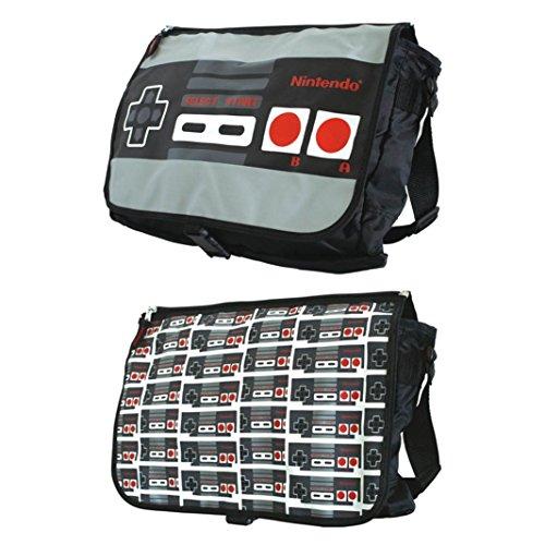 Preisvergleich Produktbild Controller Tasche Messenger Bag kompatibel mit Nintendo Umhängetasche mit Wendecover Schultasche Kuriertasche
