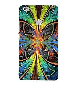 PrintVisa Colourful Flower Wallpaper 3D Hard Polycarbonate Designer Back Case Cover for Xiaomi Mi Max