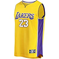N_B_A sports LA Lakers James 23 Man 2017/18 Replica Jersey Gold