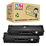 OFFICE HELPER Compatible Toner Cartridge Replacement for Samsung MLT-D111S for use in Samsung Xpress SL-M2070 SL-M2070W SL-M2070FW SL-M2020W SL-M2020 SL-M2022 SL-M2022W SL-M2078W SL-M2026 SL-M2026W (2Pack)-Nero